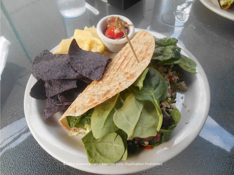 Black bean/quinoa burrito at Ohana Cafe - Palm Harbor, Florida