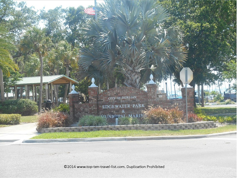 Marina sign in Dunedin, Florida
