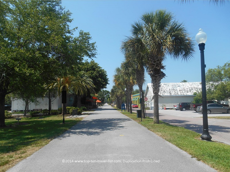 Pinellas Trail - section in downtown Dunedin, Florida