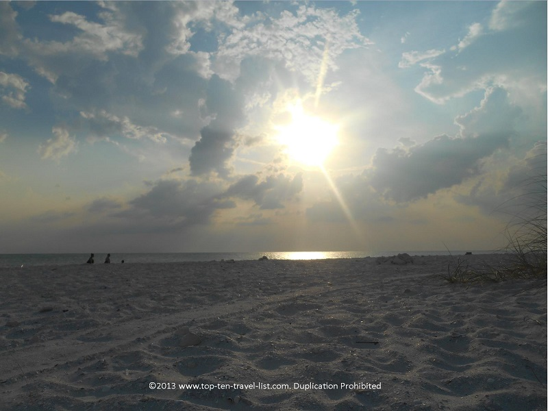 Sun beginning to set at Honeymoon Island - Dunedin, Florida