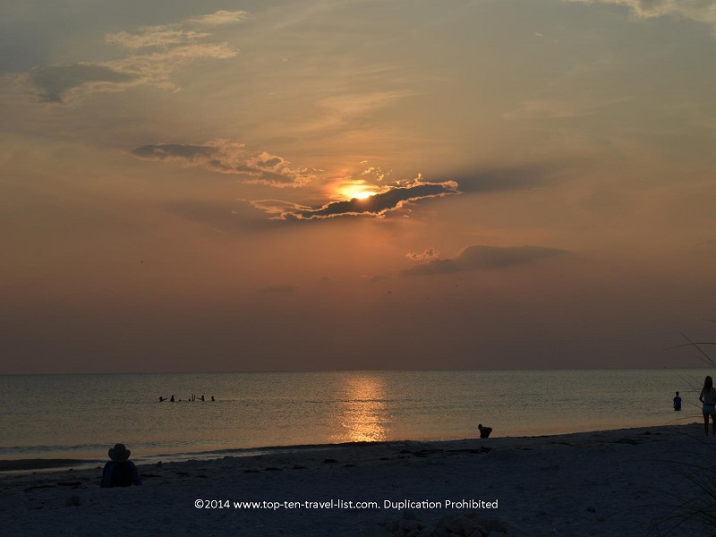 Sun peeking through the crowds - Honeymoon Island - Dunedin, Florida