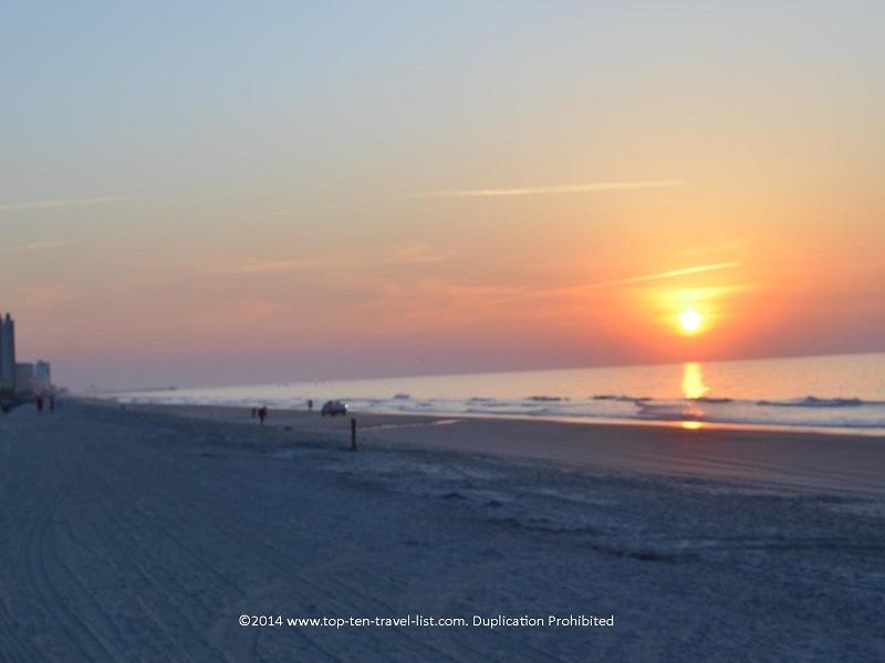 Sun rise in Myrtle Beach, SC