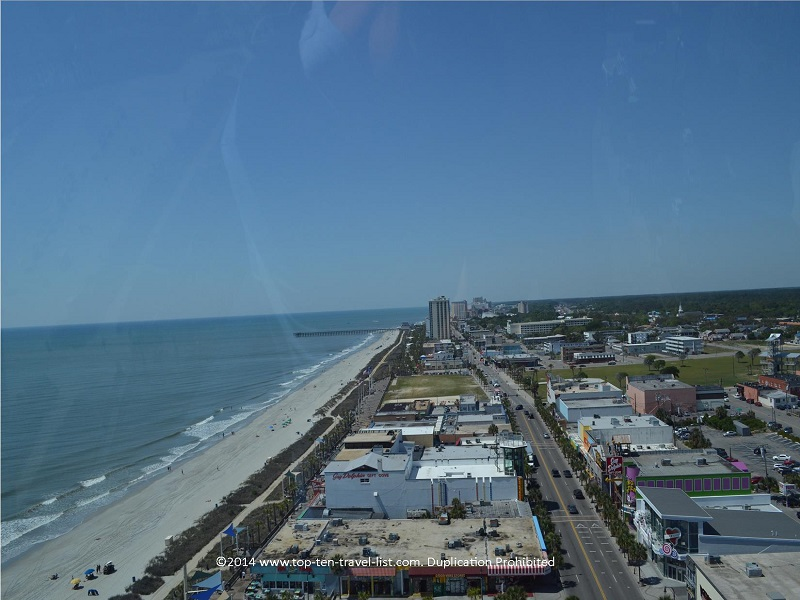 View of the beach and city from Myrtle Beach's Sky Wheel