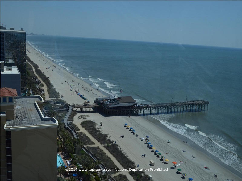 Views of the pier from Myrtle Beach's Sky Wheel