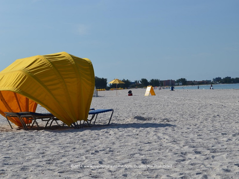 Cabana rental at St. Pete Municipal Beach in Treasure Island, Florida