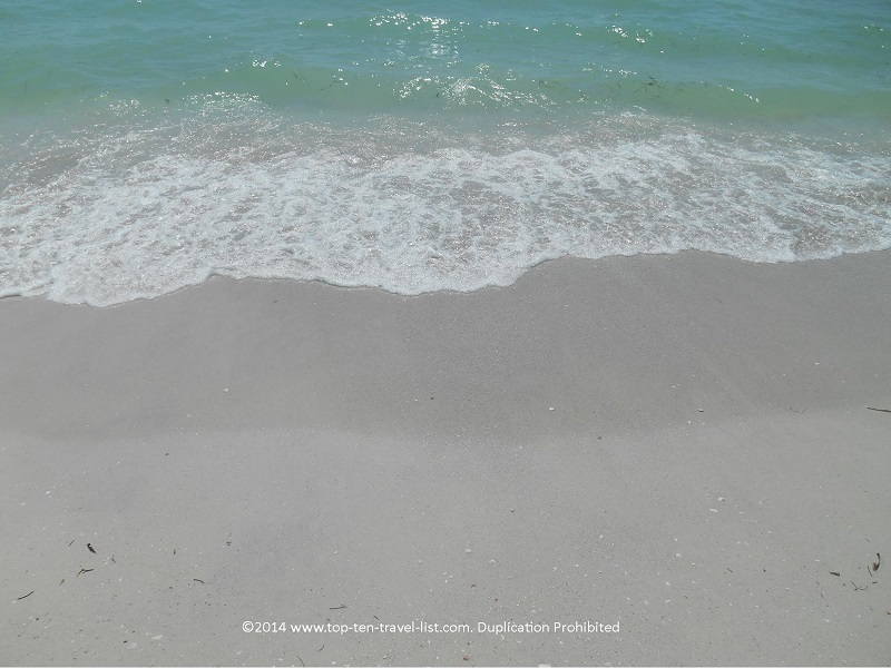Clear water at Pass-A-Grille Beach in St. Petersburg, Florida