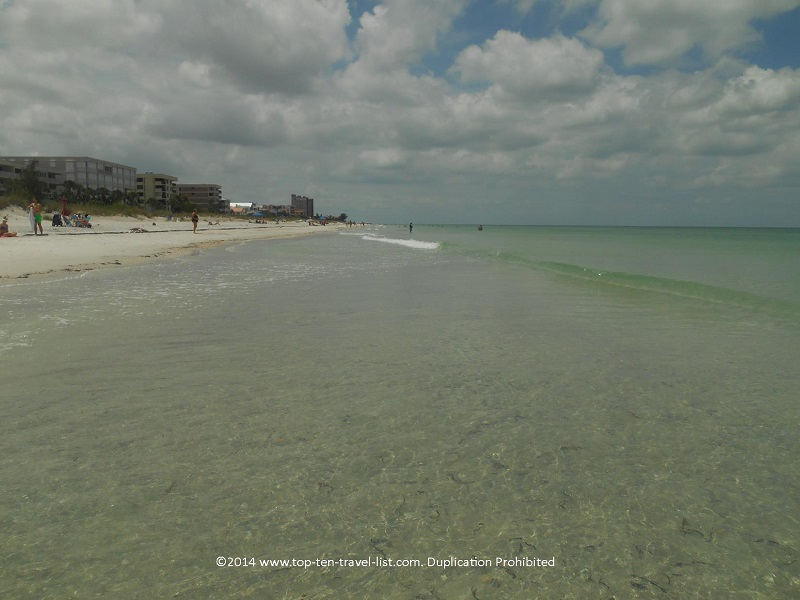Crystal clear waters at Indian Rocks Beach in Indian Shores, Florida