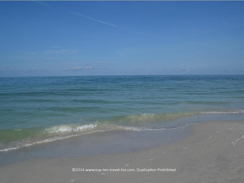 Beautiful clear water at St. Pete Municipal Beach in Treasure Island, Florida
