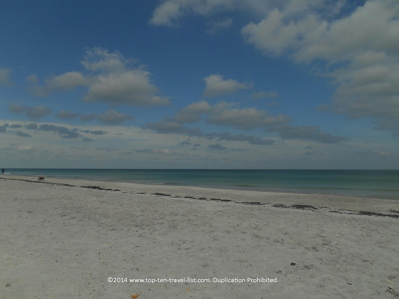 A partly cloudy day at Indian Rocks Beach in Indian Shores, Florida