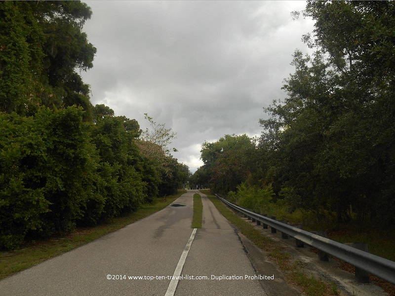 A stormy day on Florida's Pinellas Trail