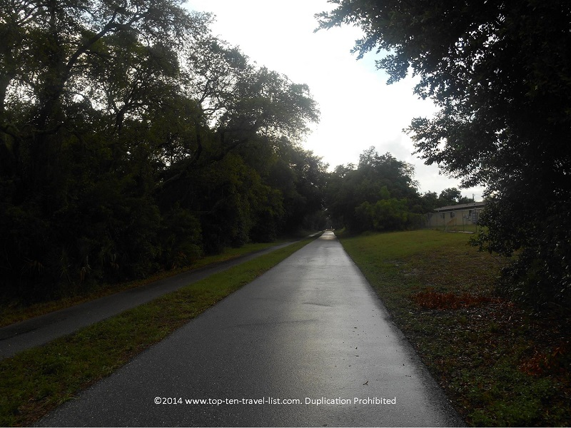 Dark stormy day on the Pinellas Trail - Florida