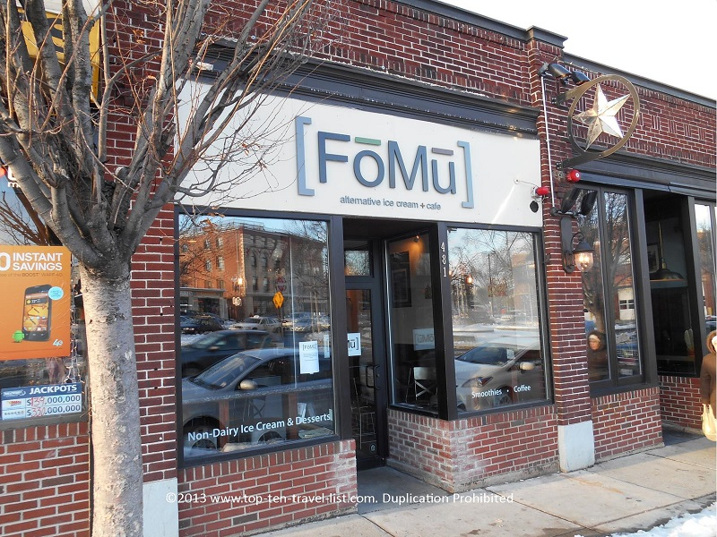 FoMu non-dairy ice cream in Allston, MA