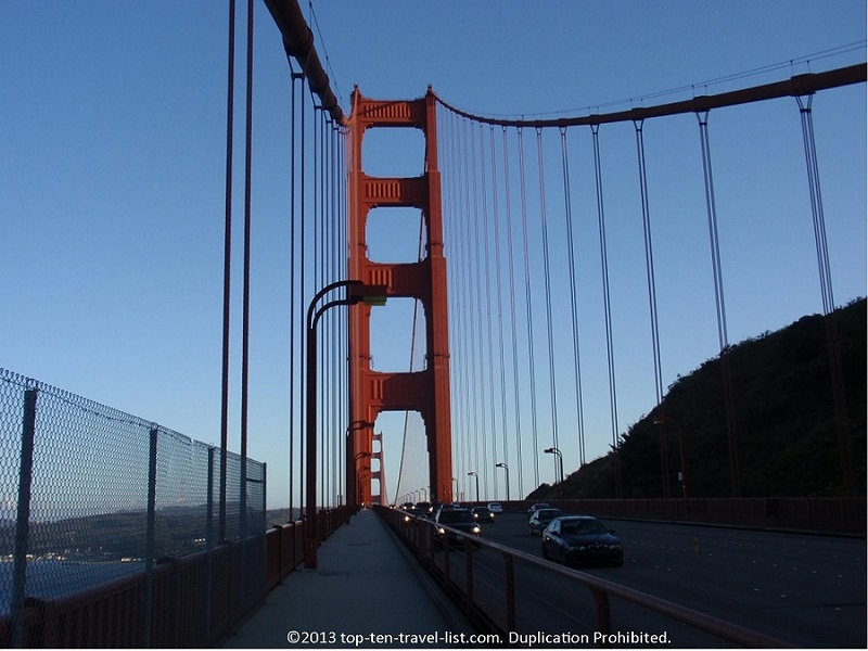 Walking across the Golden Gate Bridge - San Franscico, California
