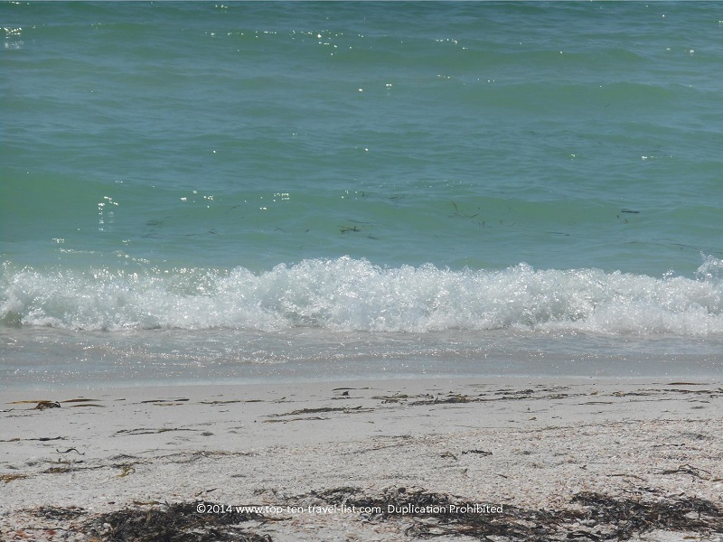 Light waves at Pass-A-Grille Beach in St. Petersburg, Florida