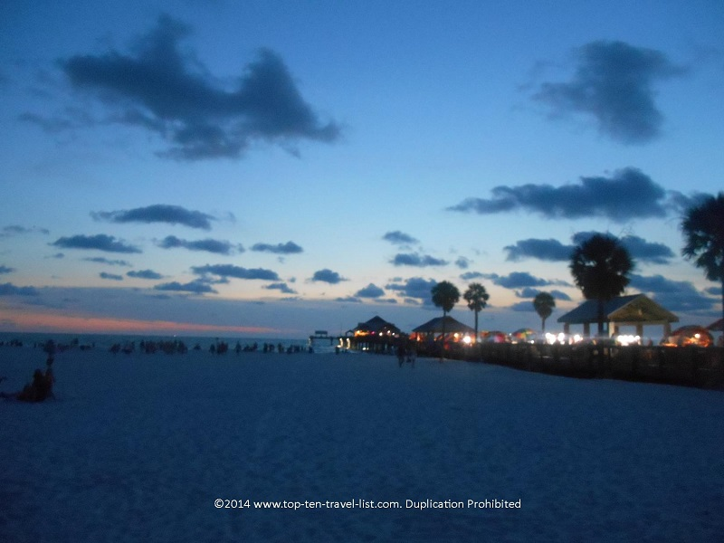 Night view of Pier 60 in Clearwater, Florida