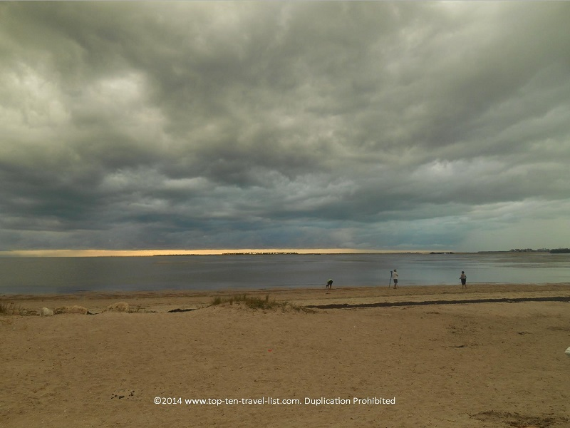 Photographers at Sunset Beach in Tarpon Springs, Florida