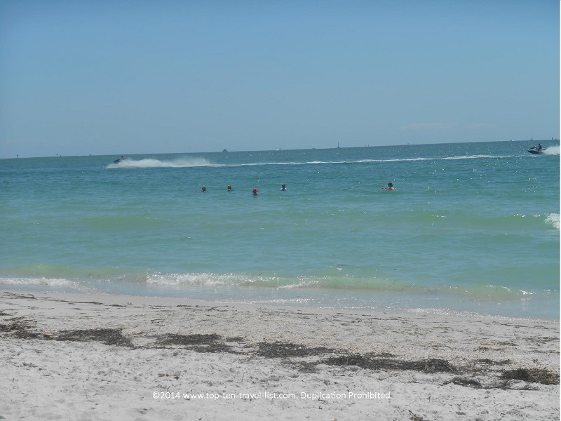 A view of the sand at Pass-A-Grille Beach in St. Petersburg, Florida