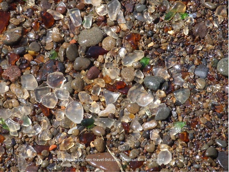 Layers of SeaGlass at Ft. Bragg beach - Northern California