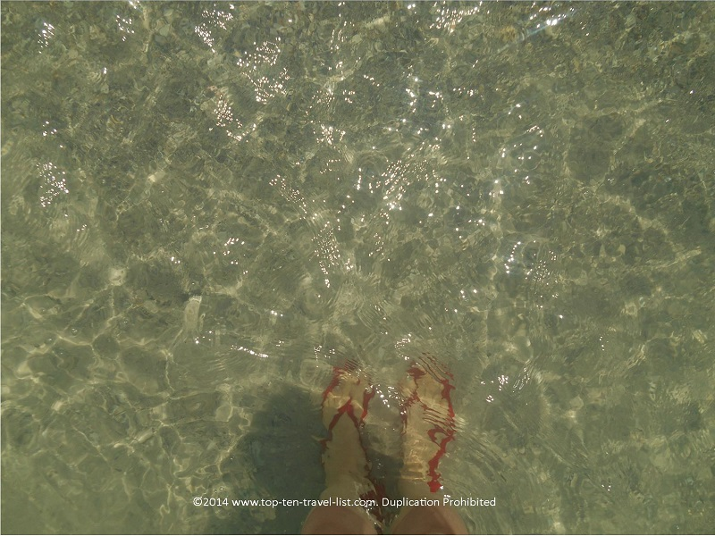 I can see my feet in the clear waters at Indian Rocks Beach - Indian Shores, Florida