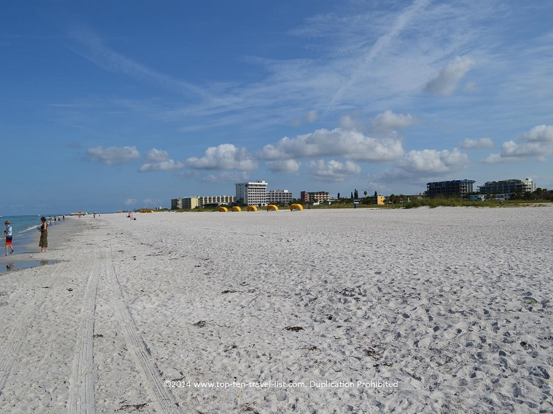 Lots of sand at St. Pete Municipal Beach in Treasure Island, Florida