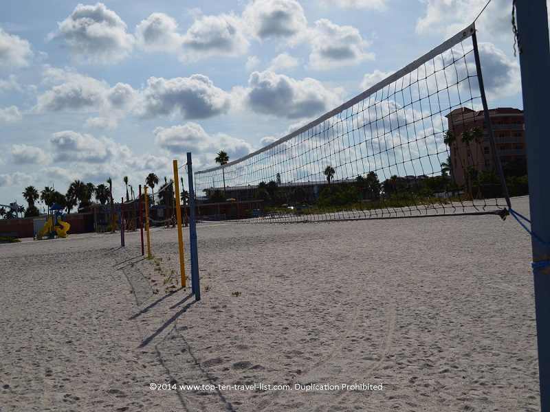 Volleyball nets at St. Pete Municipal Beach in Treasure Island, Florida
