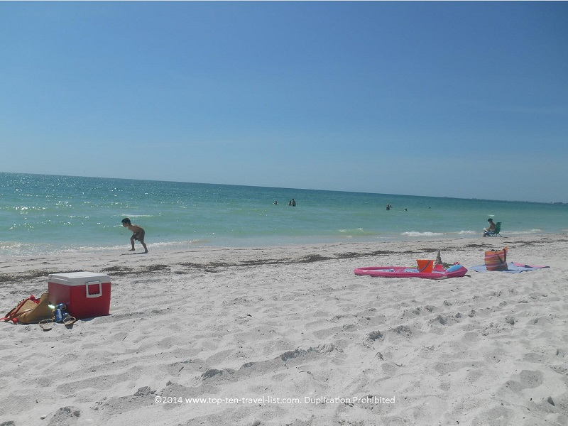 White sand and clear water - Pass-A-Grille Beach in St. Petersburg, Florida