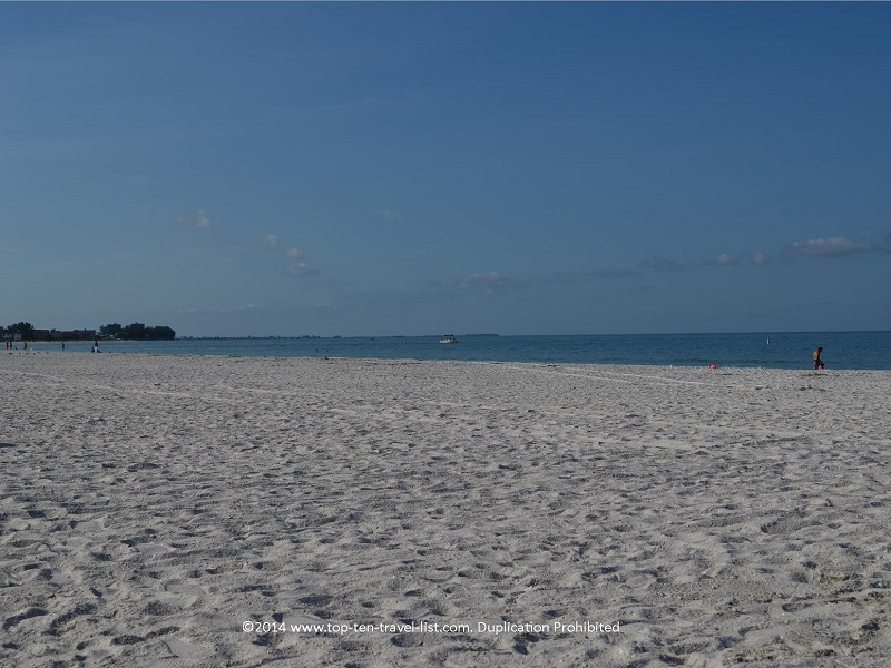 St Pete Municipal Beach - a wide stretch of sand