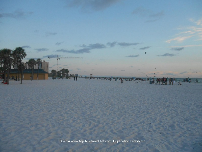 Wide, sandy Clearwater Beach in Florida
