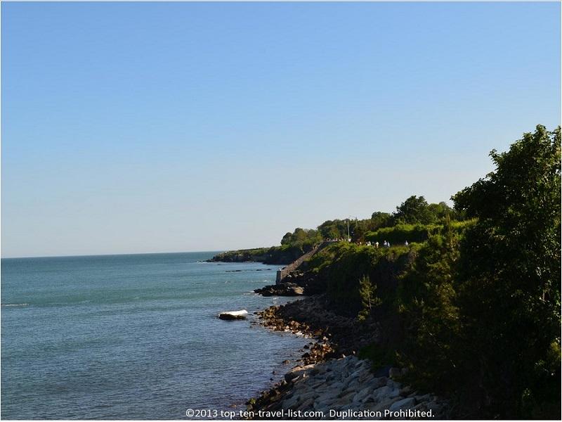 40 stone steps on Newport's CliffWalk - Rhode Island