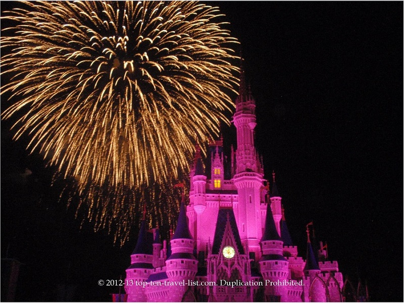 Fireworks show at the Magic Kingdom Walt Disney World