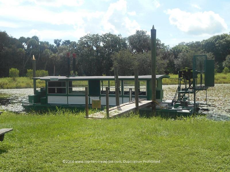 Airboat gator ride at Myakka River State Park in Sarasota, Florida