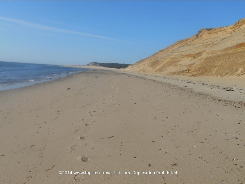Beautiful secluded beach on Cape Cod's Great Island Trail