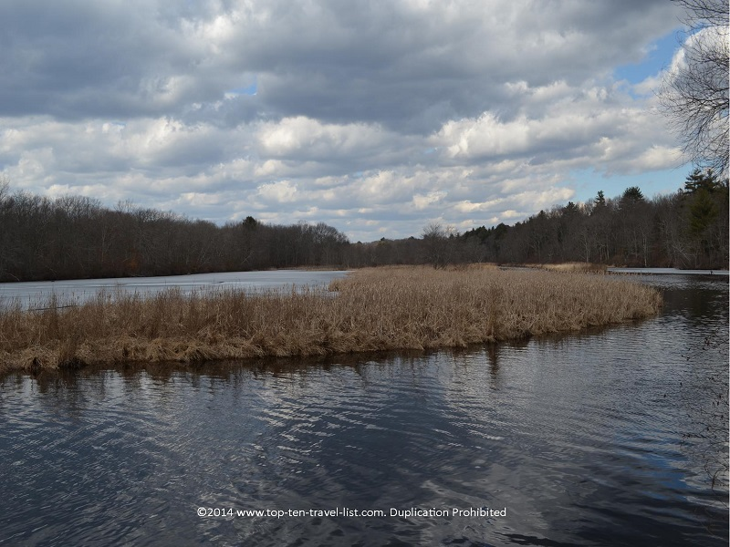 Beautiful views of the river at Gertrude M. Boyden Wildlife Refuge - Massachusetts