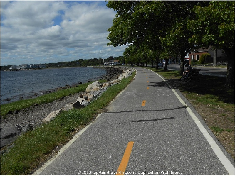 Beautiful water views along Rhode Island's East Bay Bike Path