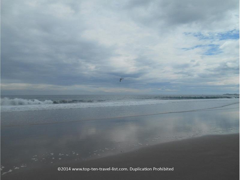 Scarsborough Town Beach in Narragansett, Rhode Island