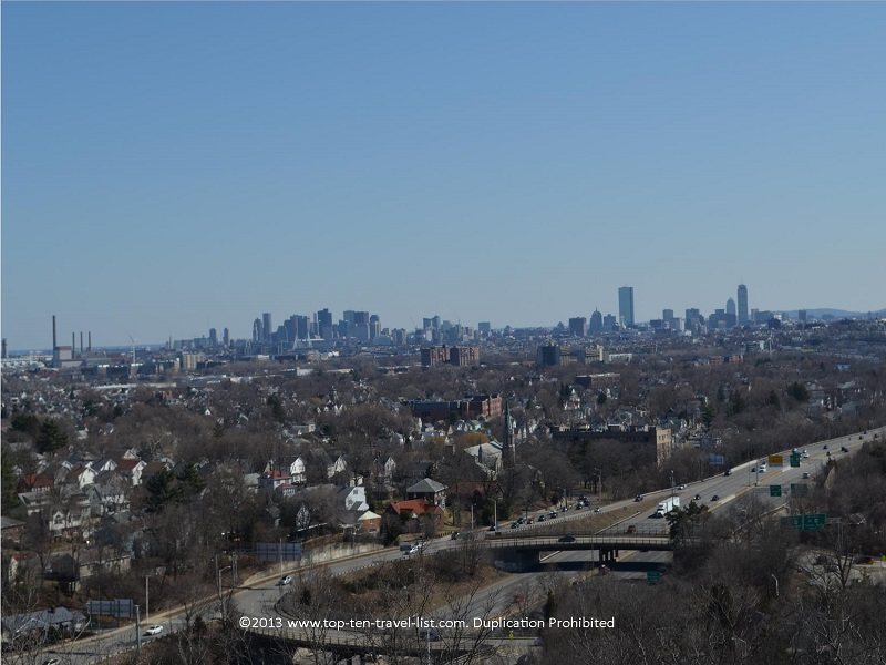 Boston skyline views from Middlesex Fells Reservation