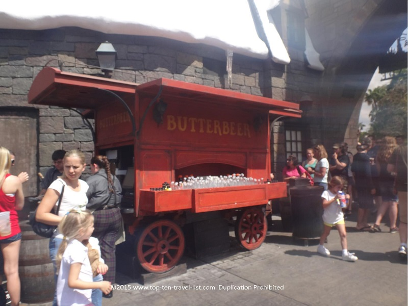 You will find Butterbeer stations scattered about the area: what a great frosty treat on a hot afternoon!