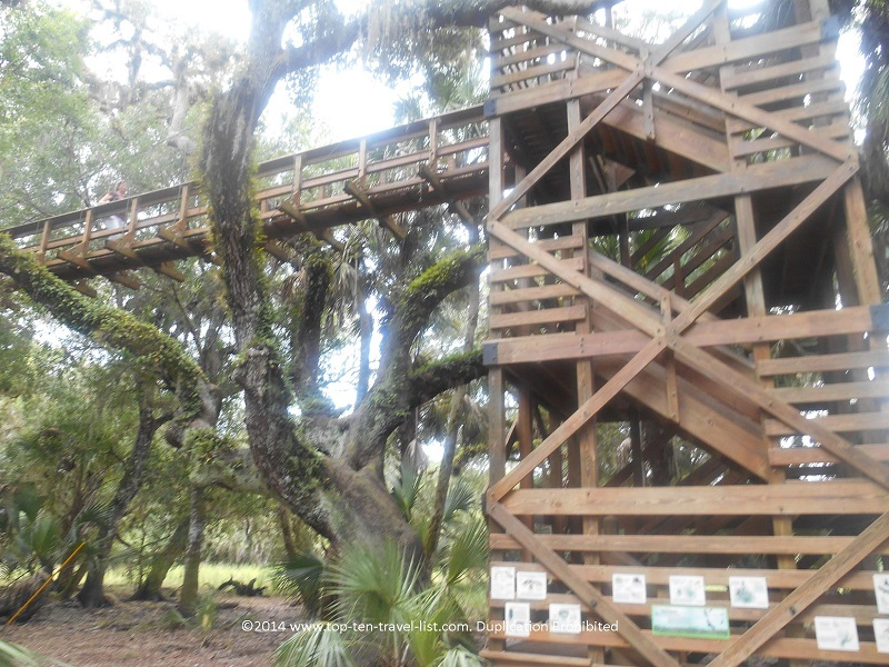 Observation tower and canopy walkway at Myakka River State park - Sarasota, Florida