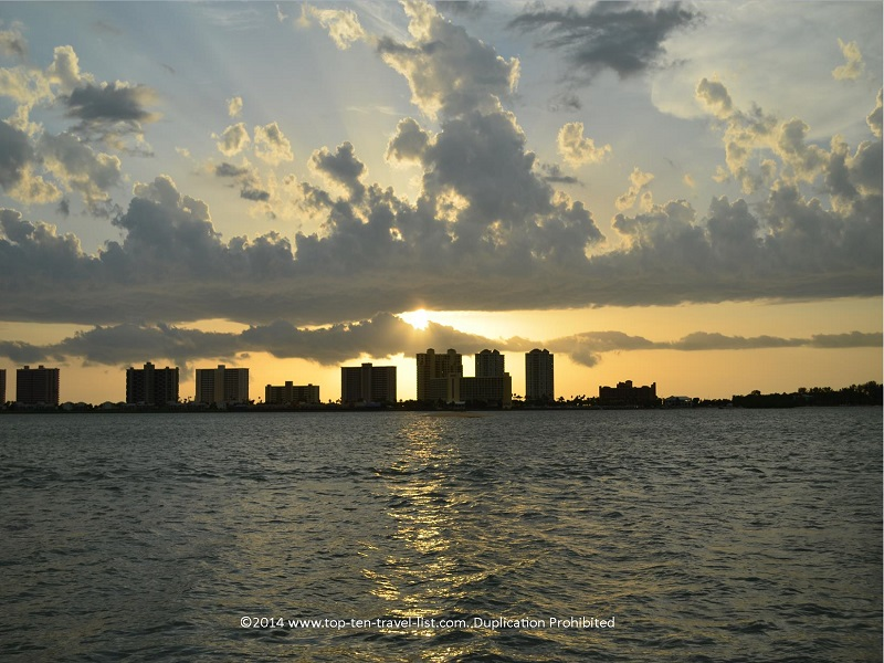 Sunset in Clearwater, Florida - Tropics Boats Tours Sunset Cruise