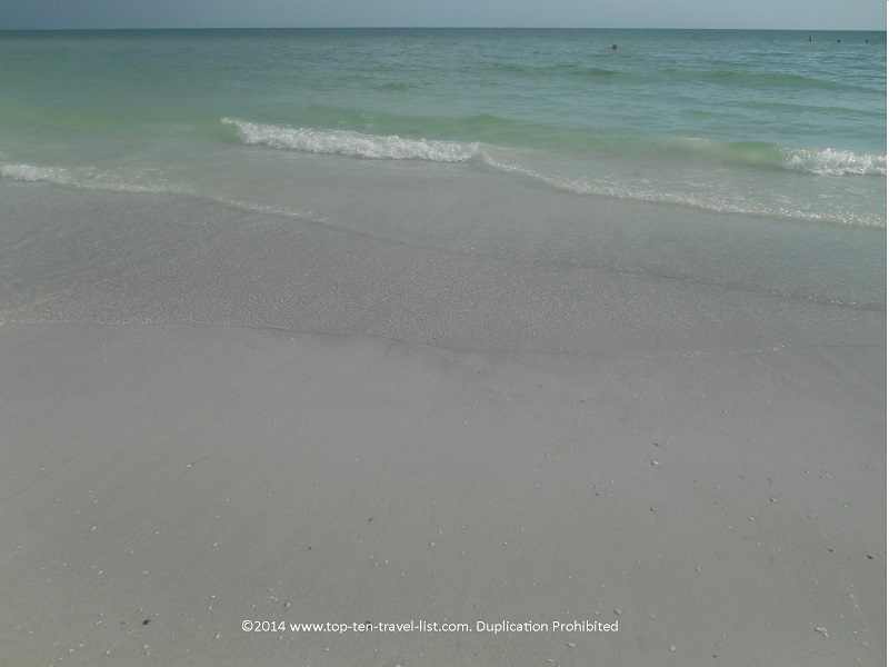 Beautiful clear water at Sarasota's Siesta Key Beach