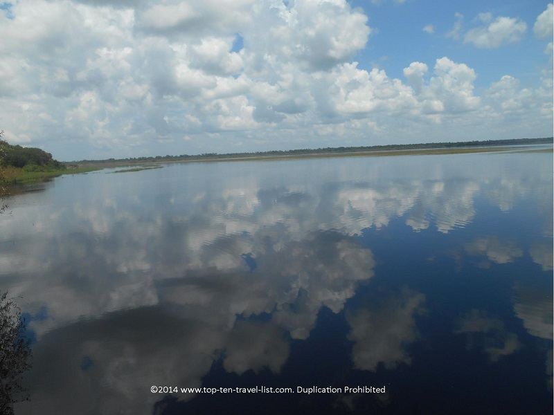 A cloudy reflection on the lake - Myakka River State Park near Sarasota, Florida