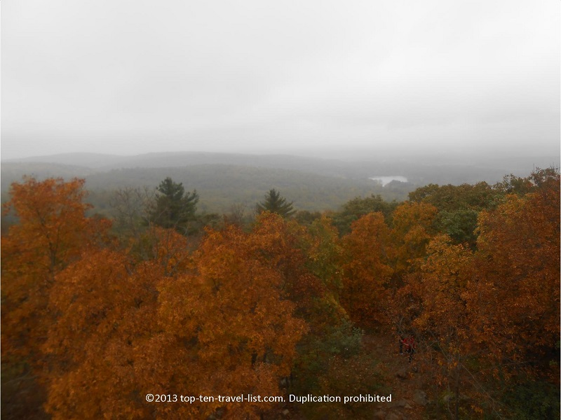 Colorful views during fall season at Blue Hills Reservation
