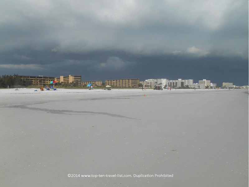 A stormy day on Sarasota's Siesta Key Beach
