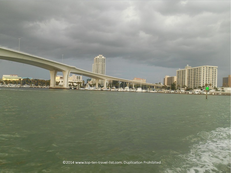 A view of downtown Clearwater from the Tropics Boat Tours