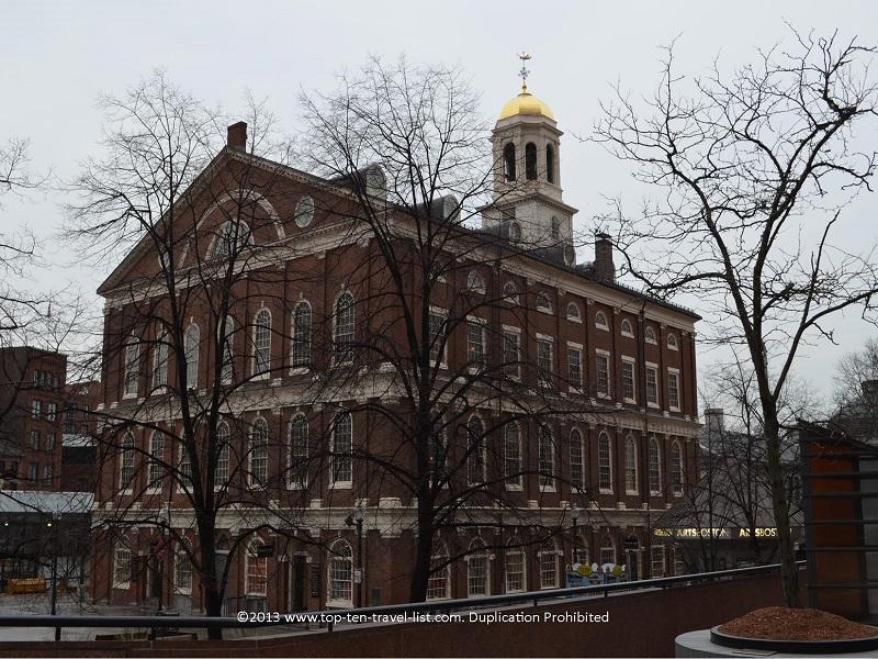 Faneuil Hall in Boston, Massachusetts