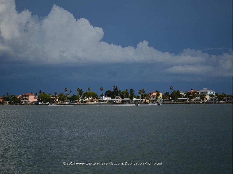 Gorgeous homes lining the coast - Hubbard's Marina cruise in Madeira Beach, Florida