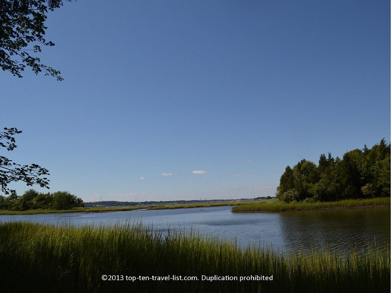 Pretty water views at Emilie Ruecker Wildlife Refuge - Tiverton, Rhode Island