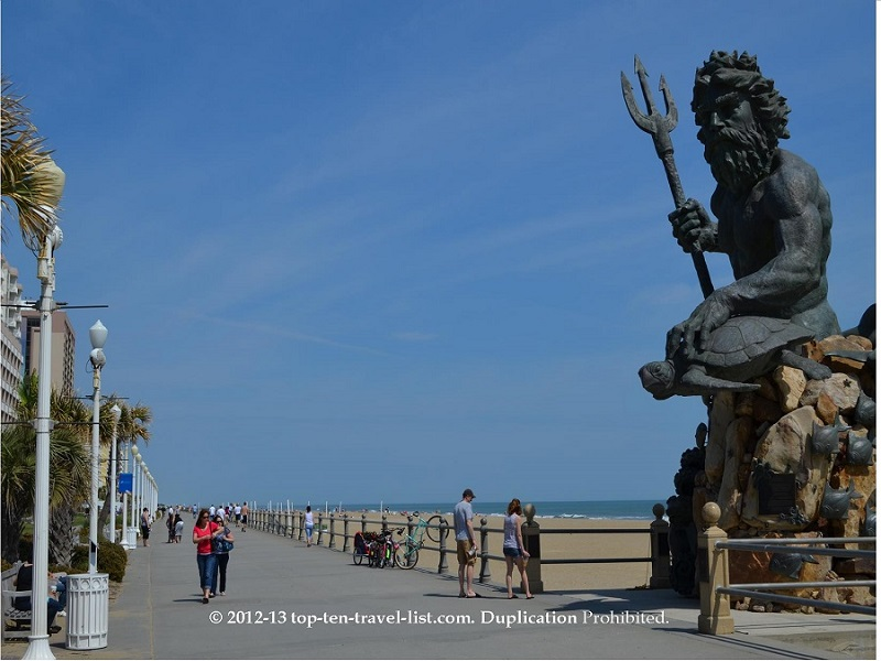 Neptune Statue on the Virgina Beach boardwalk