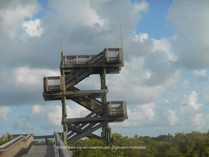 Observation tower at Weedon Island Preserve in St. Petersburg, Florida