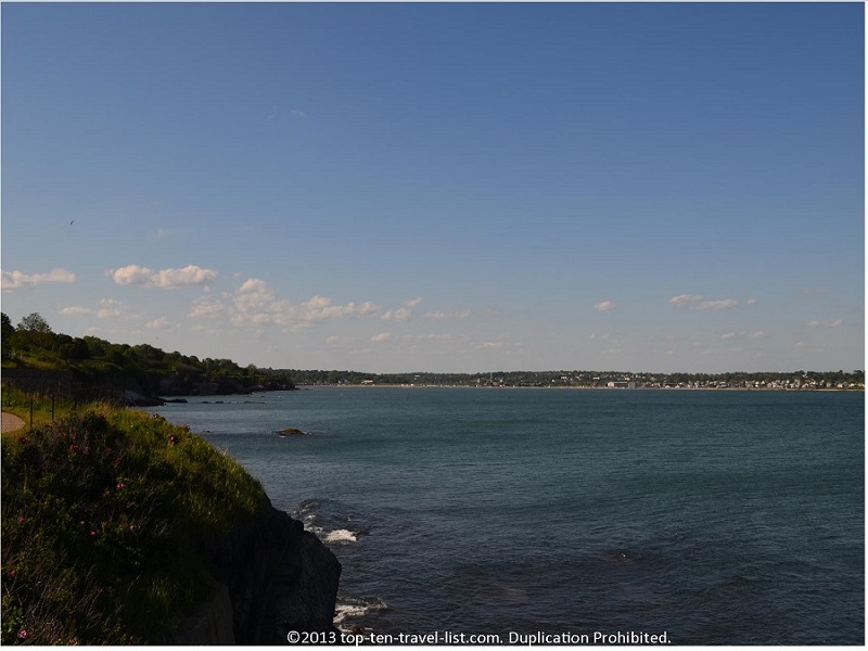 Gorgeous coastal views on Newport Rhode Island's CliffWalk